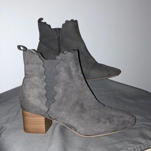 Lane Bryant Gray Booties